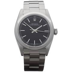 Rolex Ladies Stainless Steel Oyster Perpetual mid size Automatic Wristwatch