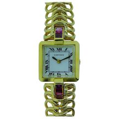 Cartier by LeCoultre Ladies Yellow Gold Bracelet Wristwatch