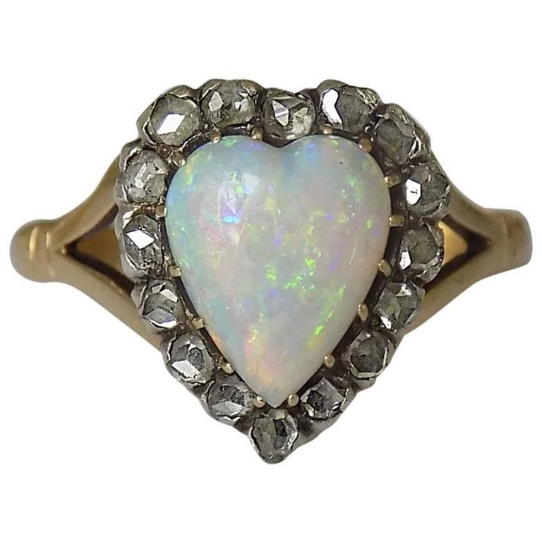 antique opal gold ring at 1stdibs