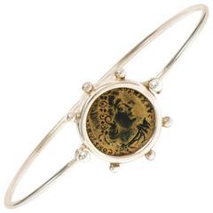 Dubini Constantine Ancient Bronze Coin Silver Bracelet