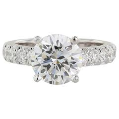 3.01 Carat GIA Certified Round Brilliant Diamond Solitaire Engagement Ring