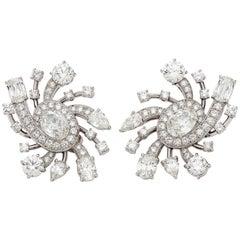GIA Certified Diamond Platinum Galaxy Earrings