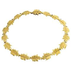 Buccellati 1st Edition Oak Leaf Gold Necklace