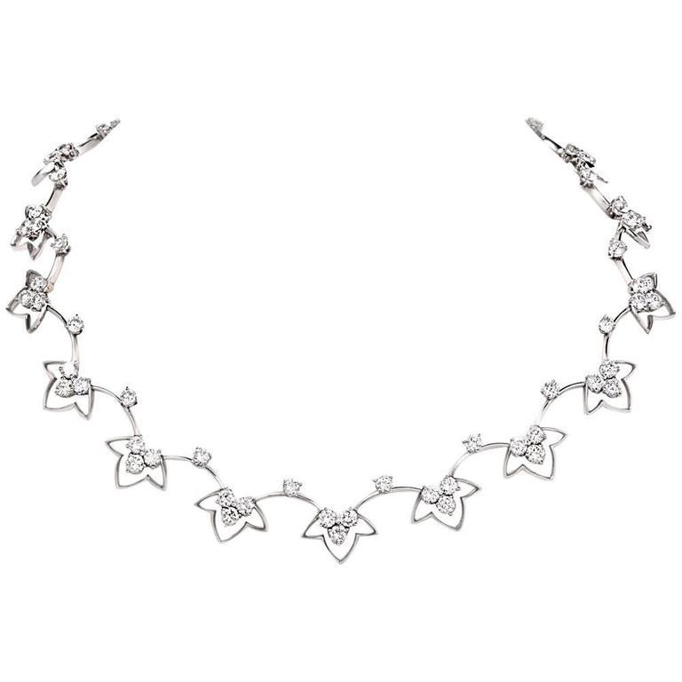 French  Diamond Platinum Choker Necklace
