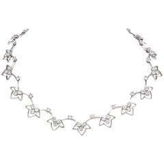 21st Century French Diamond Platinum Choker Necklace