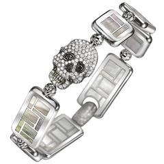 Sicis Vanitas Animi Black Diamonds Titanium Gold Micromosaic Bracelet