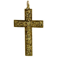 Antique Gold Pendant Cross