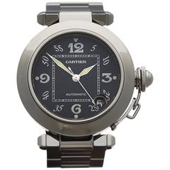 Cartier Stainless Steel Pasha Automatic Wristwatch 2324