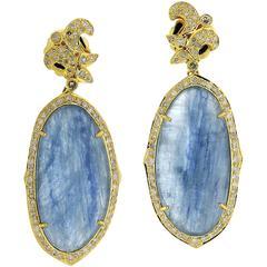 Kynite Diamond Gold Floral Earrings