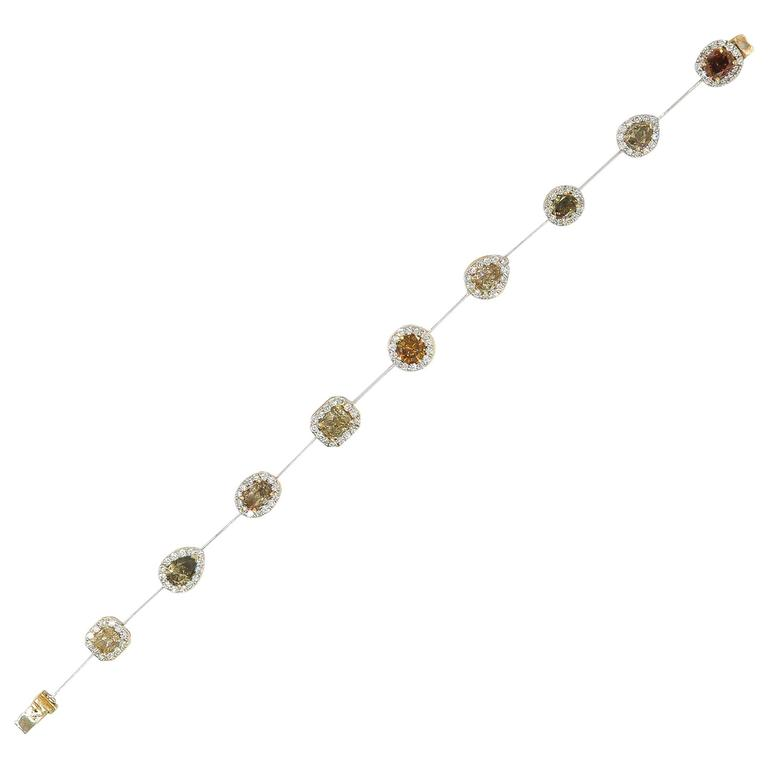 Yvel Natural Colored Diamond Bracelet For Sale