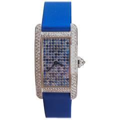 Cartier Ladies White Gold Tank Americaine quartz Wristwatch