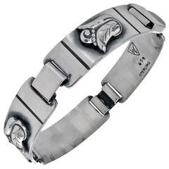 1950 Rare Laurence Foss Georg Jensen Designer Sterling Silver Bracelet