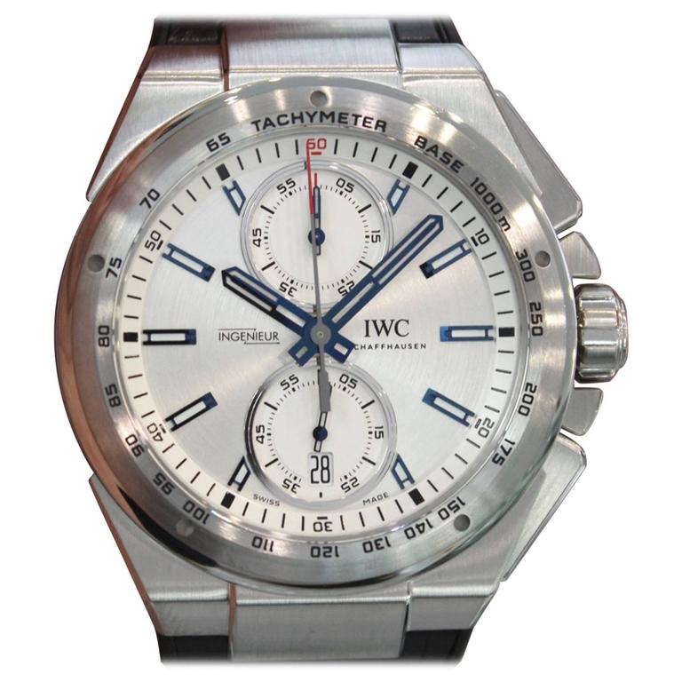 IWC Ingenieur Stainless Steel Chronograph Racer Automatic Wristwatch