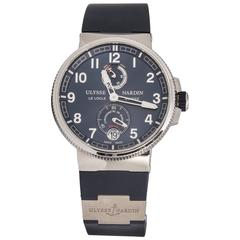 Ulysse Nardin Stainless steel Marine Blue Dial Blue Rubber Automatic Wristwatch
