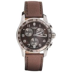 Victorinox Swiss Army Stainless steel Chrono Brown Dial Automatic Wristwatch