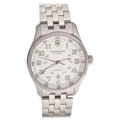 Swiss Army Airboss Stainless Steel Case Cream Dial Automatic Wristwatch