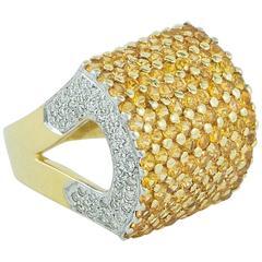 Yellow Sapphire Diamond yellow gold Ring