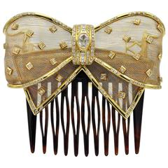 Diamond and Gold Brooch / Comb