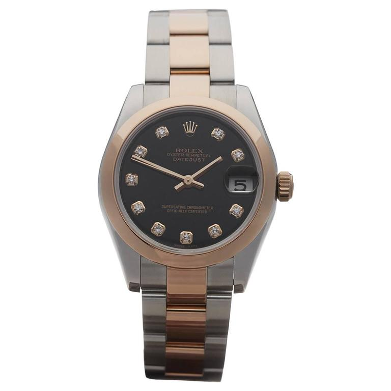 Rolex Stainless Steel Yellow Gold Datejust Automatic Wrist Watch