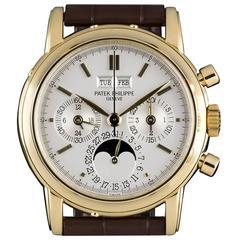 Patek Philippe Gold Perpetual Calendar Chronograph Wristwatch
