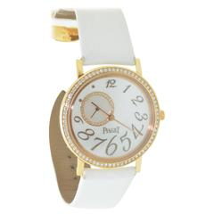 Lady's Rose Gold Diamond & Mother of Pearl Piaget