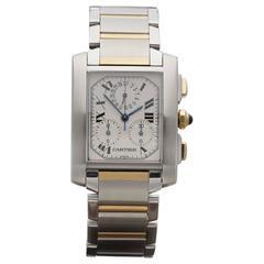 Cartier Yellow Gold Stainless Steel Quartz Wristwatch