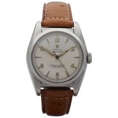 Rolex Stainless Steel Bubble Back Wristwatch