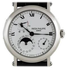 Patek Philippe Platinum Power Reserve Moonphase Wristwatch