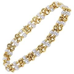 Bulgari Pearl Gold Choker Necklace