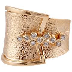 22 karat yellow gold diamond ring by Sonja B