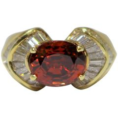 Spessartine Garnet Evening Ring