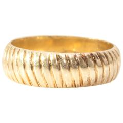 1970s Tiffany & Co. Yellow Gold Band