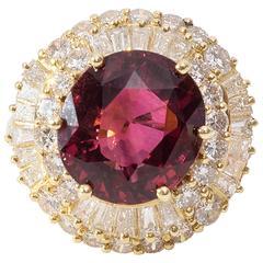 Ballerina Ring with 5 Carat Tourmaline and Diamonds
