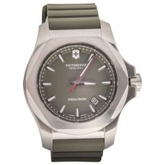 Victorinox I.N.O.X. Green Dial and Rubber Strap Quartz Wristwatch