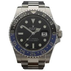 Rolex Stainless Steel GMT-Master II Day-Night Batman Automatic Wristwatch