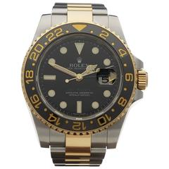 Rolex Stainless Steel Yellow Gold Oyster GMT-Master II Automatic Wristwatch