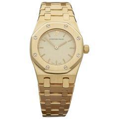 Audemars Piguet ladies Yellow Gold Royal Oak Quartz Wristwatch Ref W3303