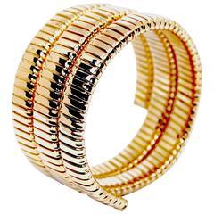 Carlo Weingrill Gold Tubogas Snake Bracelet
