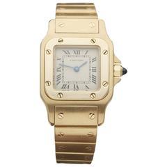 Cartier Ladies Yellow Gold Santos 0450 Quartz Wristwatch Ref W3309