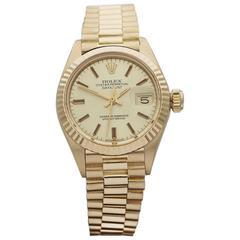 Rolex Ladies Yellow Gold Datejust Automatic Wristwatch Ref 6917