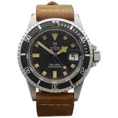 Tudor Stainless Steel Submariner Snowflake Wristwatch Ref 94110