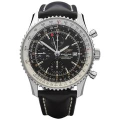 Breitling Stainless Steel Navitimer world time Automatic Wristwatch Ref A24322