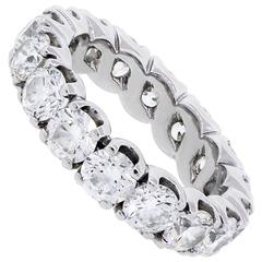 Round Brilliant Diamond Gold Eternity Band Ring