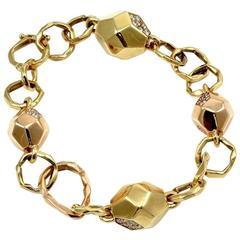 Mimi So Switch Diamond Rock Gold Bracelet