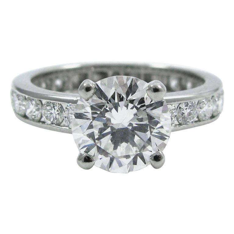 Oscar Heyman 1.50 Carat Round Brilliant Cut Diamond Platinum Ring GIA