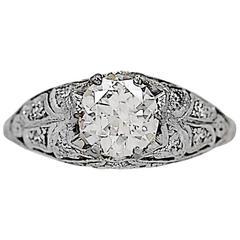 .91 Carat Diamond Platinum Engagement Ring