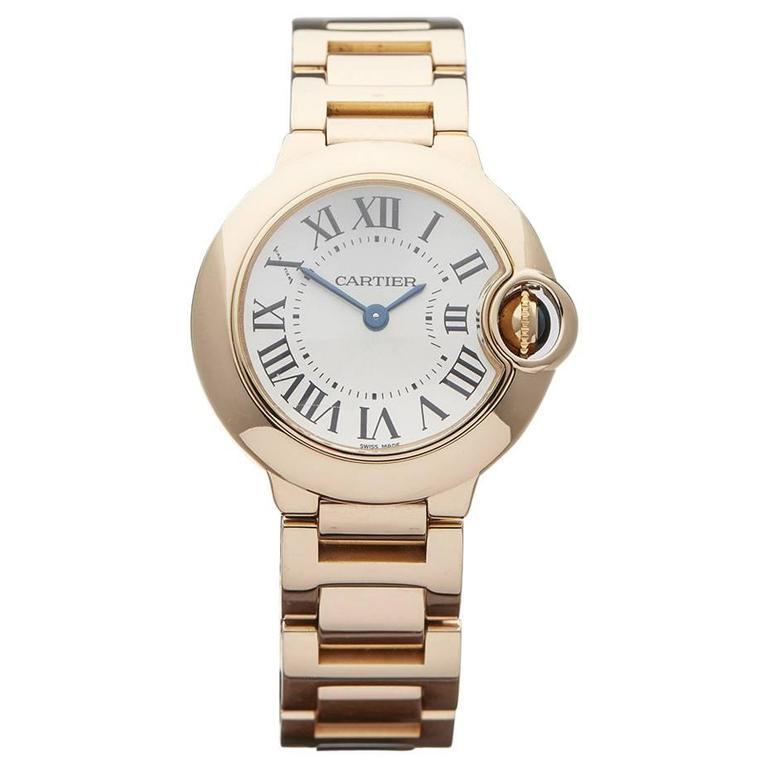 Cartier Ladies Rose Gold Ballon Bleu Quartz Wristwatch W3338