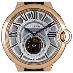 Cartier Rose Gold Ballon Bleu De Cartier Flying Tourbillon manual  Wristwatch