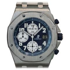 Audemars Piguet Titanium Royal Oak Offshore Blue Themes Automatic Wristwatch