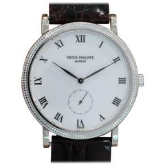 Patek Philippe White Gold Calatrava Wristwatch